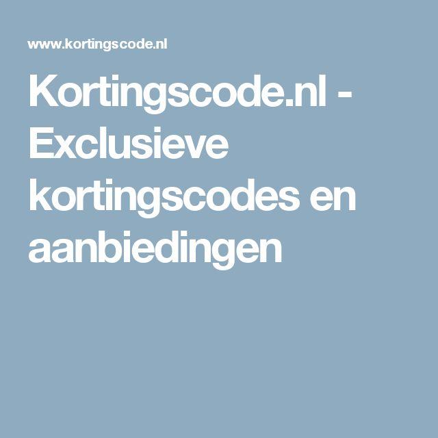 Kortingscode.nl - Exclusieve kortingscodes en aanbiedingen