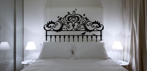 How elegant is this wrought iron headboard?