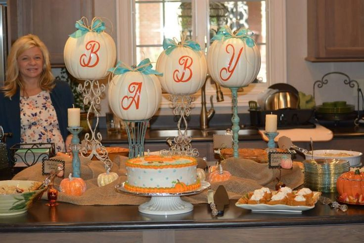 Fall Baby Shower Food Table