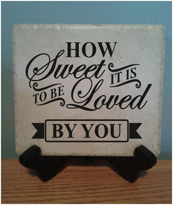 ceramic tile with vinyl lettering 6x6 how sweet it is family ceramic