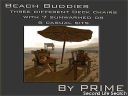 PrimBay - Beach Buddies deck chairs, all PG versions