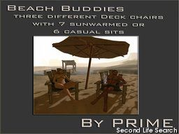 PrimBay - Beach Buddies deck chairs, all PG versions