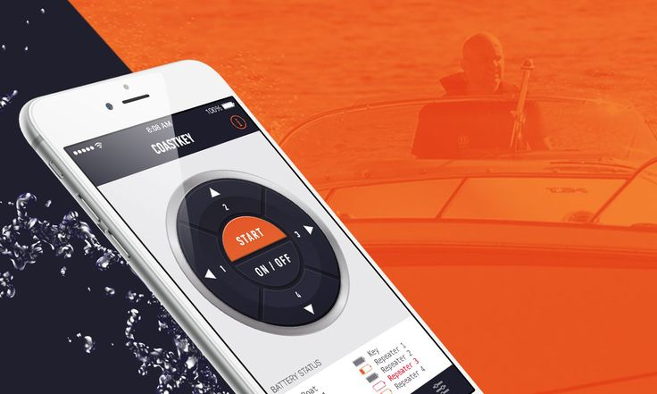 Within a short time we delivered an #MVP app for #iOS that communicates with the boat controller using Bluetooth™ technology. 🚤