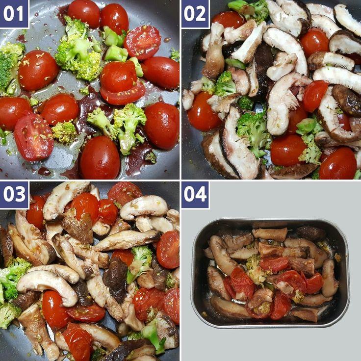 • [ 2016년4월28일. Thursday. 11PM ] ➡ Cooking meals for tomorrow at night ☆ oyster mushroom + cherry tomato + broccoli + balsamic vinegar (1 tablespoon) + olive oil (2 tablespoon) + a pinch of salt • ➡ 자기 전 내일 낮에 먹을 음식 조리 // 도시락 싸놓기 [ 체지방 커팅식단 ] 프랙탈 다이어트 식단 :  느타리버섯+방울토마토+브로콜리+발사믹식초(1스푼)+올리브오일(2스푼)+소금(한 꼬집)° ☡ Tip: 일찍 출근해야 할 때는 전날 밤에 미리 만들어 놓고, 정시에 출근해도 되는 날은 1시간 일찍 조리! • ■ I am Fractal Curator • 프랙탈 큐레이터 ● I do Fractal Exercise • 프랙탈 운동법 ● I keep Fractal Diet • 프랙탈 다이어트 ➡ I cook by myself • 식단…
