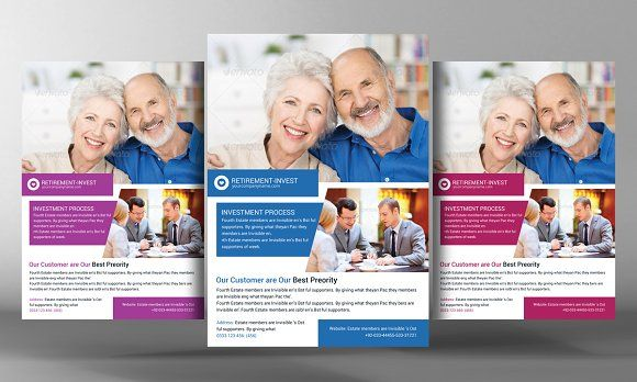 Retirement Investment Service Flyer by Business Templates on @creativemarket