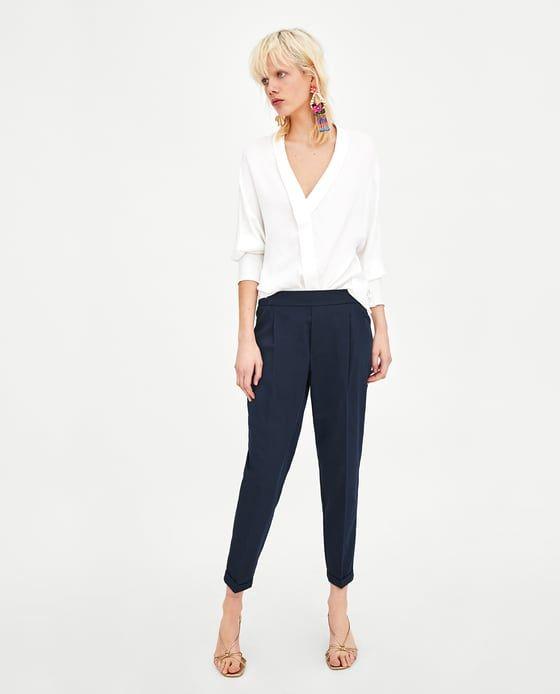 Pantalon Chino Goma Pinterest Pantalon Chino Zara Et Pantalons