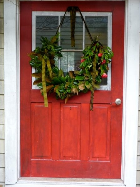 We're so over the wreath this year.