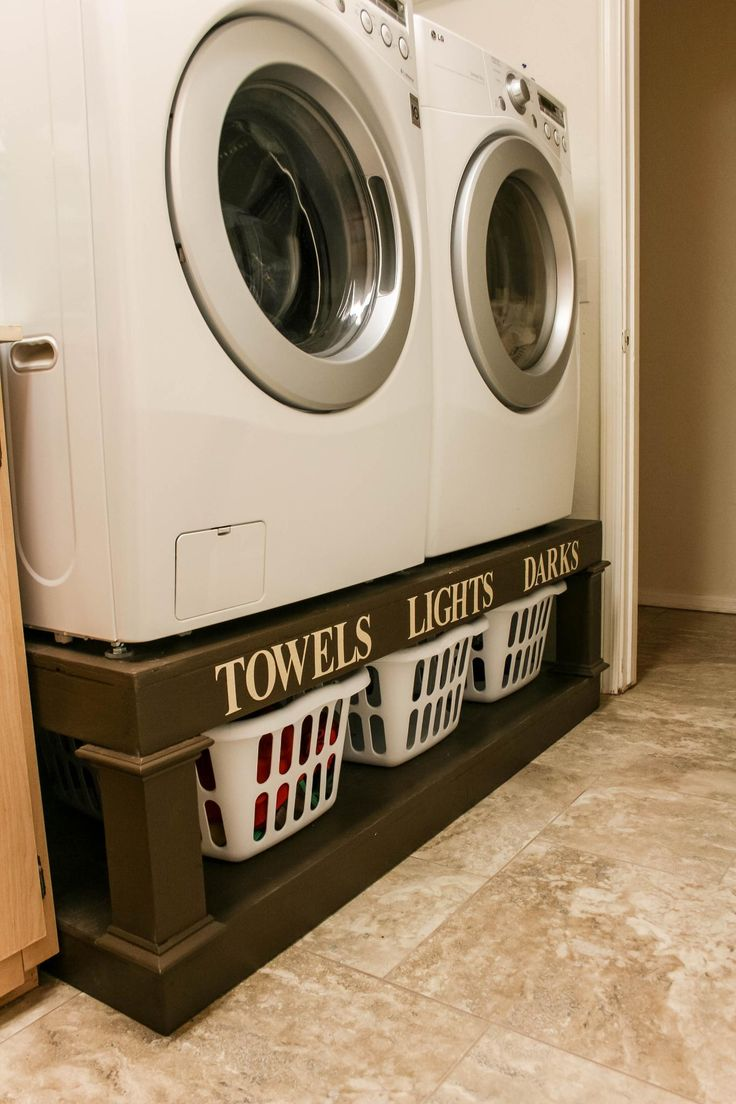 When You're Short on Laundry Room Space Raise the Washer and Dryer