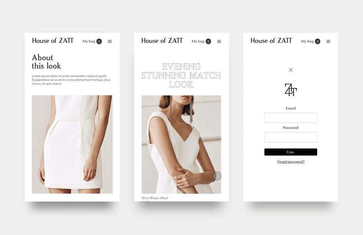 E-commerce House of Zatt on Behance