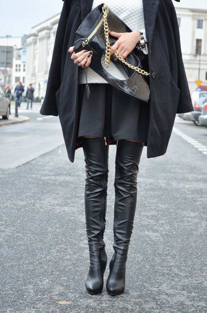#black #heels #fashion #style #moda #damska #kozaki #jesień