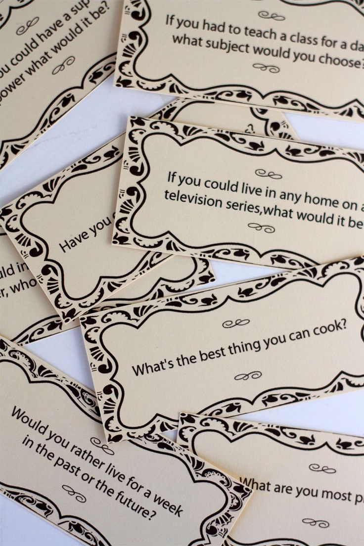 How to create dinner conversation cards and box with links to the cards in pdf format