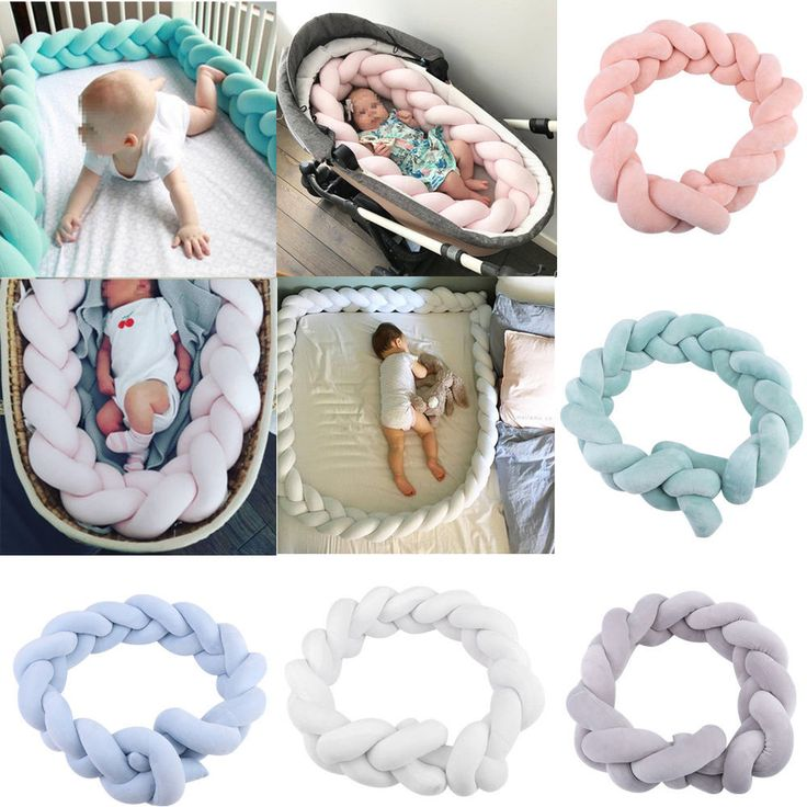 Baby Bedding Bumper Crib Knot Ball Infant Safe Protector