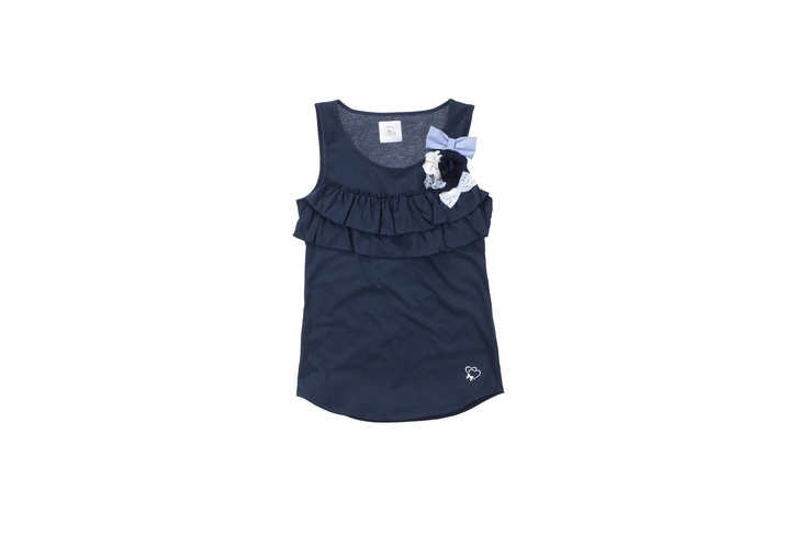 Maison Espin blu top ss13, #maisonespin #springsummercollection13 #womancollection #top #lovely #MadewithLove #romanticstyle #milano #blu