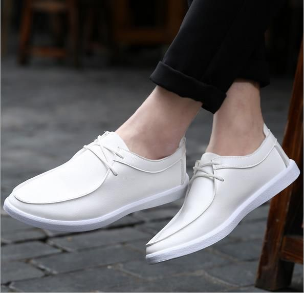 >> Click to Buy << Freeshipping New Limited Brand Men's Shoes In The Fall And Winter Of 2017 Low Help Pu Han Edition White Flat With Leather  #Affiliate
