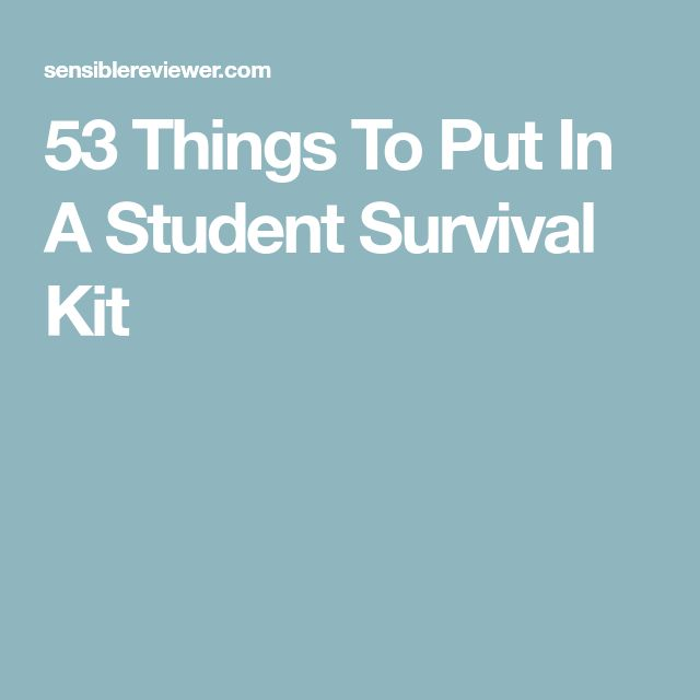 53 Things To Put In A Student Survival Kit