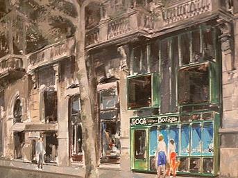 Dibujo fachada de Av. Diagonal 580.