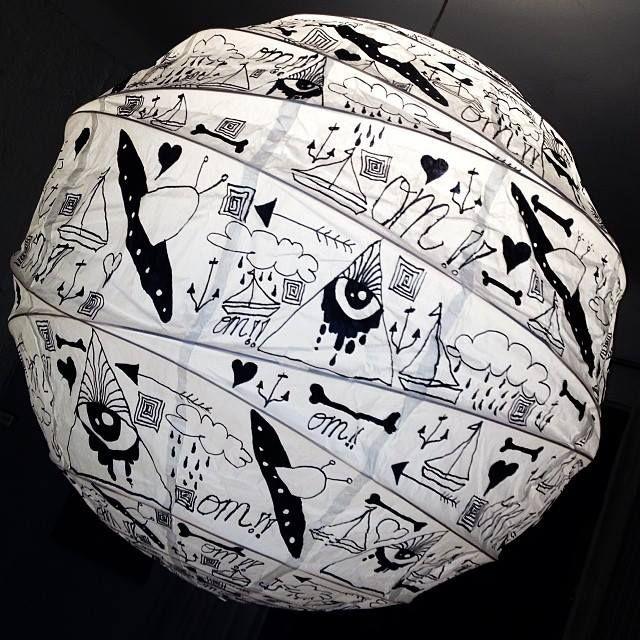 Lampara Mediana, 80cm. Dibujada a mano. $25.000
