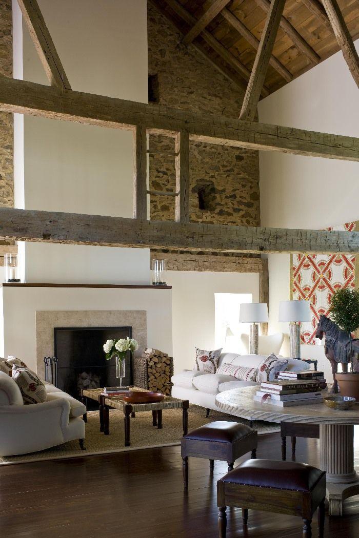 Stone Barn Conversion | Design by Joan Craig | Chicago, IL...