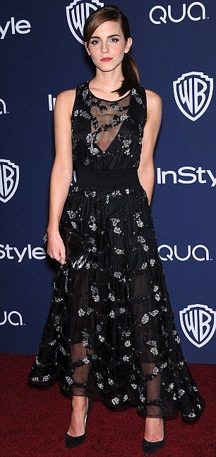 Emma Watson at the 2014 Instyle and Warner Bros Golden Globes After-party