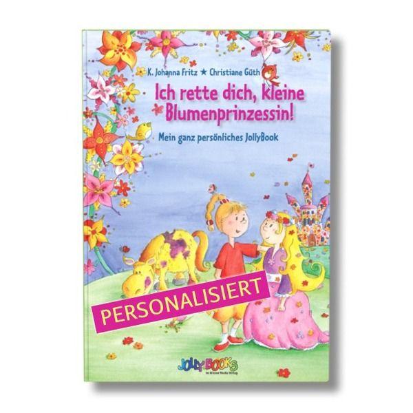 """Personalisiertes Buch """"Blumenprinzessin"""" von JollyBooks auf DaWanda.com"""