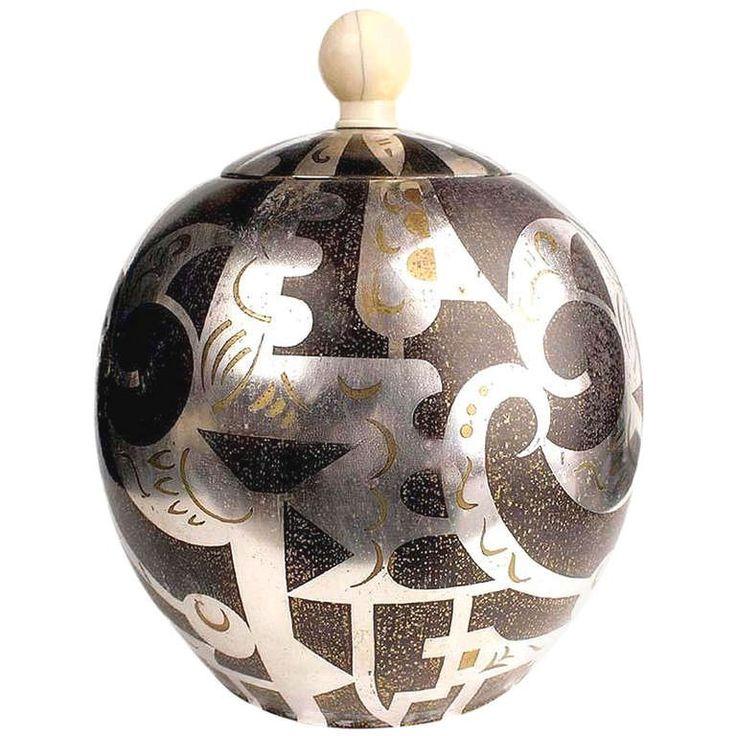 Large Art Deco WMF IKORA Paul Haustein Ivory and Silver Box | 1stdibs.com
