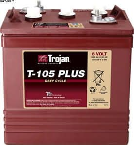 Batteriesontheweb offer Trojan Golf Cart Batteries T875 for sale, come with a three year warranty and a next working day delivery to most UK post codes