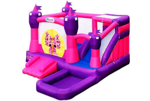 Ahora las princesas de casa y sus amigas pueden disfrutar de este maravilloso castillo inflable Princesa con tobogán y hacer de su fiesta una oportunidad para socializar y disfrutar como nunca antes.  #Comuniones #Cumpleanos #Entretenimiento #FiestasInfantiles #Diversion #Castillos #Hinchables