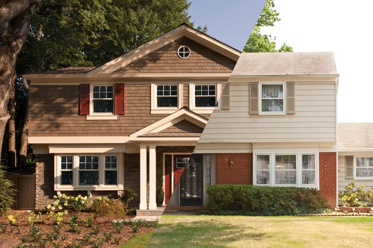 17 best images about curb appeal on pinterest ranch for Split level ranch remodel