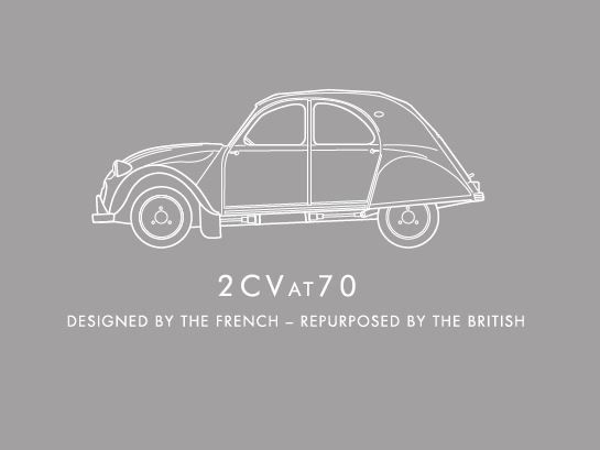 Its Official - The new Strapline for the @2CVat70 is set to create media interest around the World - and give all the due credit to both sides. Designed by the French - Repurposed by the British The all #British #design & #build team of 7 #WorldClass #UK partners are transforming the #iconic #French #2CV for the #21stcentury