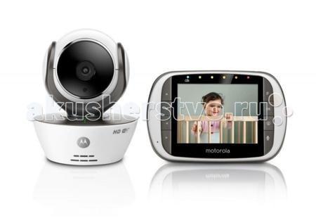 Motorola Видеоняня MBP853Сonnect  — 11990р. --------------------  Видеоняня Motorola MBP853Сonnect – это первая видеоняня, которая, обладая родительским блоком с ярким контрастным экраном 3,5 дюйма, позволяет удаленно просматривать потоковое видео в формате HD 720p, хранить и просматривать видеозаписи, получать уведомления и фотографии при срабатывании датчиков звука и движения и многое-многое другое с помощью онлайн-сервиса Hubble.   Особенности: При этом удаленное подключение к Интернет…