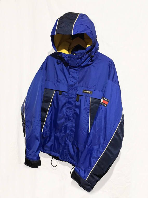 6c5f39f5eba7 Vintage 90 s Tommy Hilfiger Jacket Athletic Gear Fleece Lined Winter ...