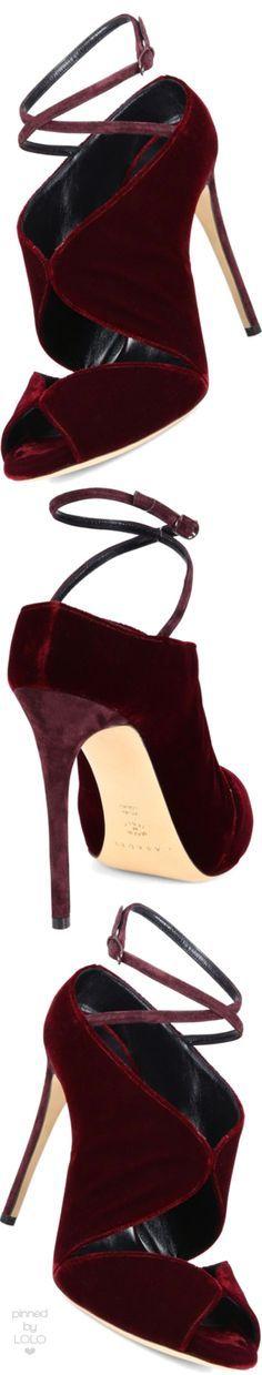 Casadei Cutout Velvet Ankle-Wrap Sandals | LOLO❤︎