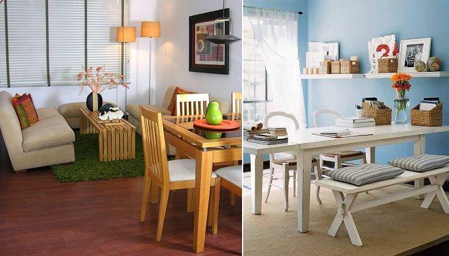 Living comedor ideas paredes colores pinterest for Decorar espacios pequenos living comedor