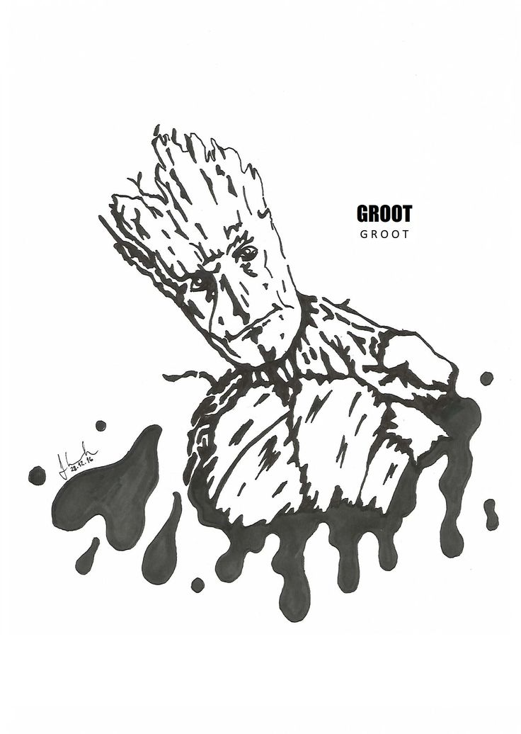 #groot #iamgroot #vin #diesel   #drawing #blackandwhite #marvel #guardians #of #the #galaxy #guardiansofthegalaxy