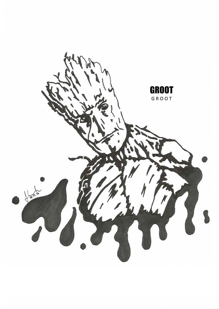 #groot #iamgroot #vin #diesel   #drawing #blackandwhite #marvel #guardians #of #the #galaxy #guardiansofthegalaxy