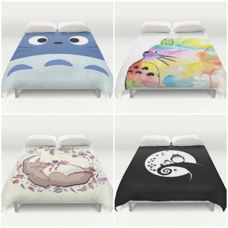 Totoro Duvet Covers from Society6 - So Awesome! (*^o^*)