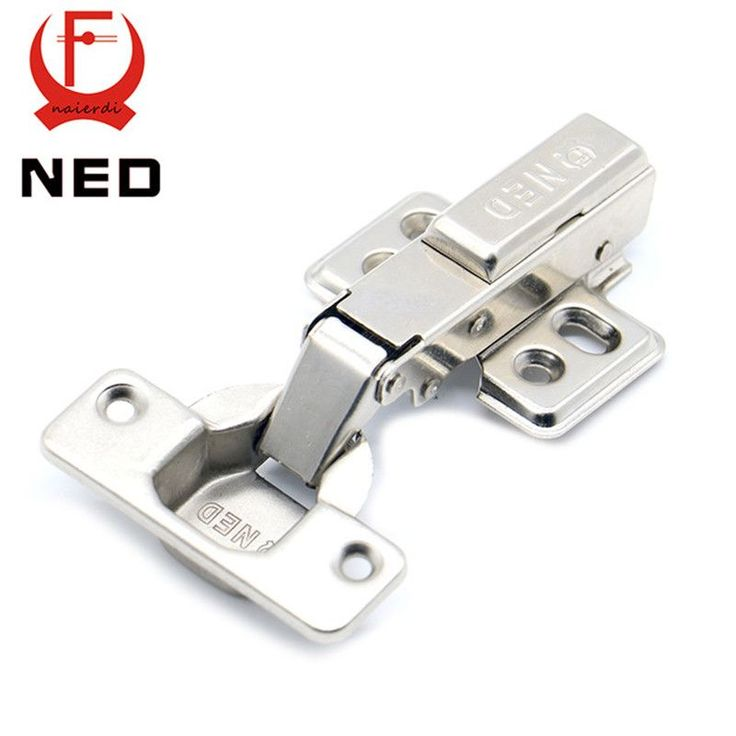 NED Hinge Rustless Iron Hydraulic Hinge Iron Core Damper Buffer Cabinet Cupboard Door Hinges Soft Close Furniture Hardware