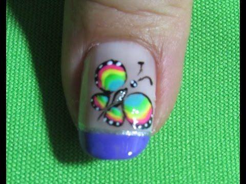 Decoracion de uñas mariposa - Como Pintar una Mariposa - Butterfly Nail Art |Nailslucerocordoba - YouTube