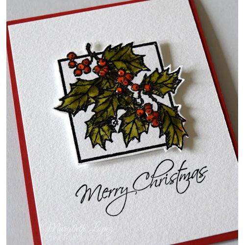 Serendipity Stamps Holly With Frame Cling Set
