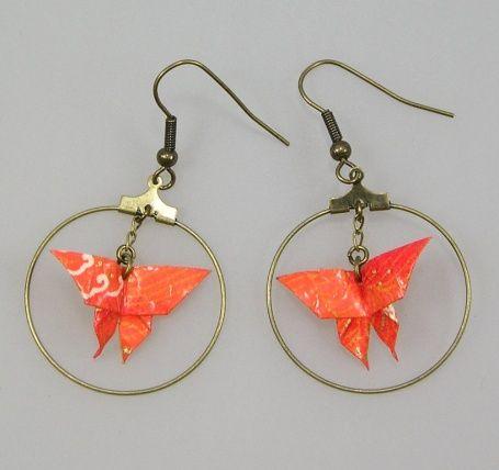 Boucles d'oreilles PAPILLON origami €14.00