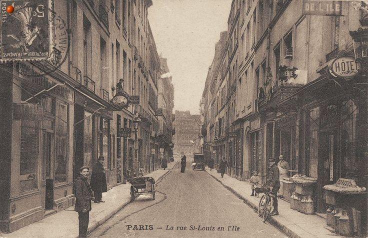 La rue Saint-Louis-en-l'Île vers 1910  (4ème arrondissement)