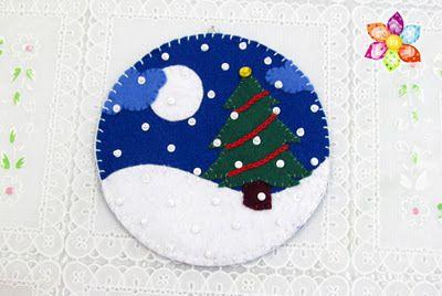 Florir - Ateliê de Retalhos: Enfeite de Natal com CD para a #sextacriativa