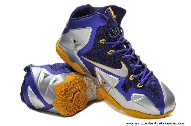 Blue Silver Yellow 616175 265 Nike LeBron 11 For Sale