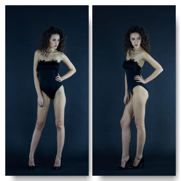 Black bodysuit with fringe  Price: 250 RON