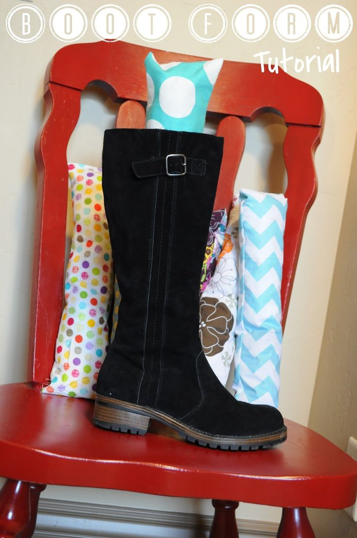 Fabric Boot Buddies (to Keep Tall Boots From Flopping Over).