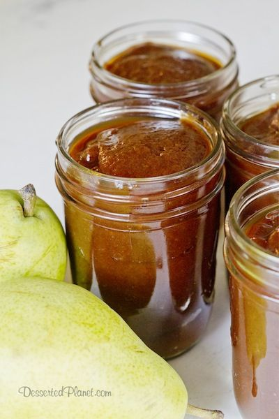 Pear Butter in Jars