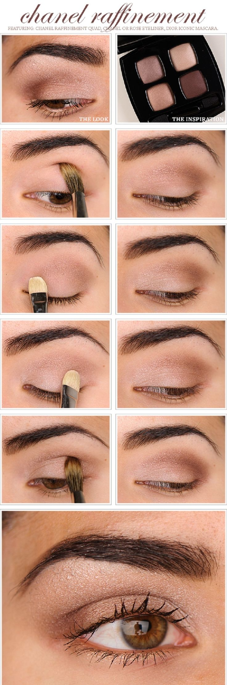 Natural Brown Eyeshadow Tutorial - 10 Brown Eyeshadow Tutorials for Seductive Eyes | GleamItUp