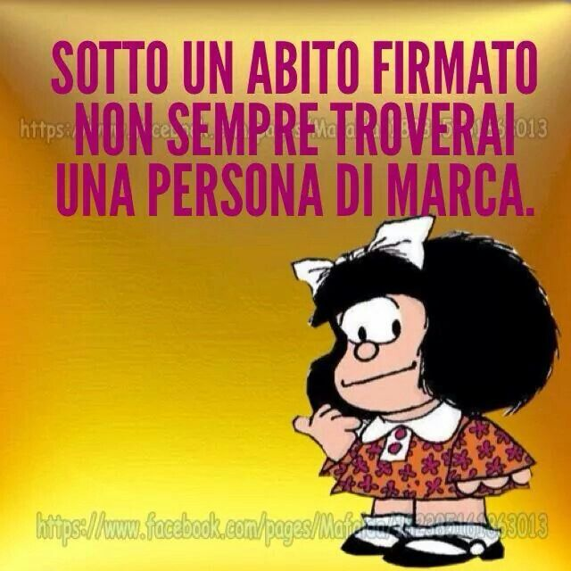 Abiti firmati..Grande Mafalda !!!