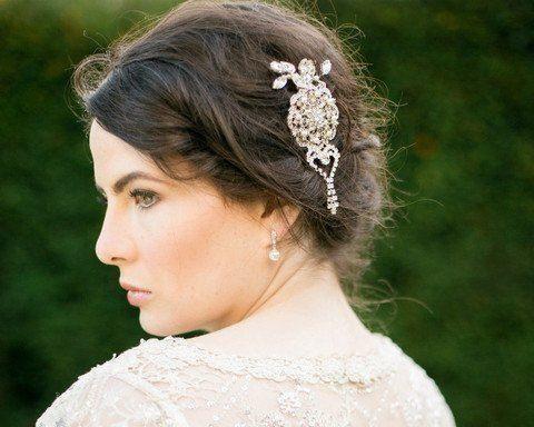 wedding hair clips statement wedding hair clip with crystals rhinestones gatsby