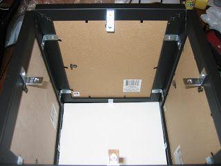 diy card box made from photo frames